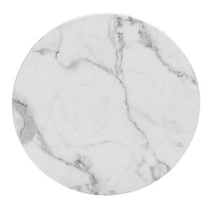 Marble Like End Table, , large