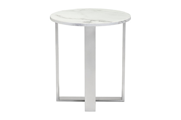 Round End Table, , large
