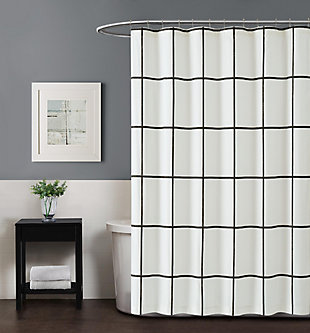 Geometric Shower Curtain, , rollover