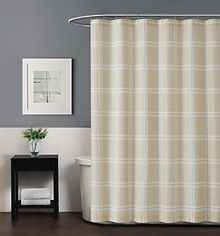 Plaid Shower Curtain, , rollover