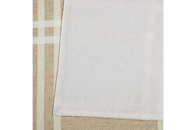 Plaid Window Panel Set of Two, Khaki, large