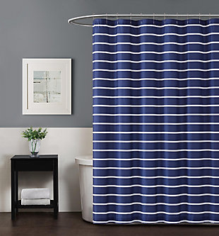 Striped Shower Curtain, , rollover