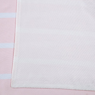 Striped Window Panel Set of Two, White, large