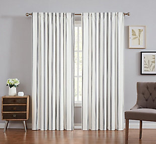 Striped Window Panel Set of Two, , large
