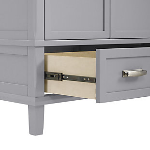 "Traditional Rosemary 30"" Bathroom Vanity, Gray, large"