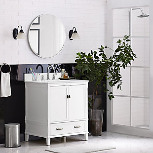 "Traditional Rosemary 30"" Bathroom Vanity, White, rollover"