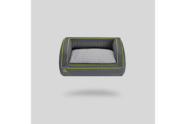 Bedgear Performance® Pet Bed - Medium, Gray/Green, large