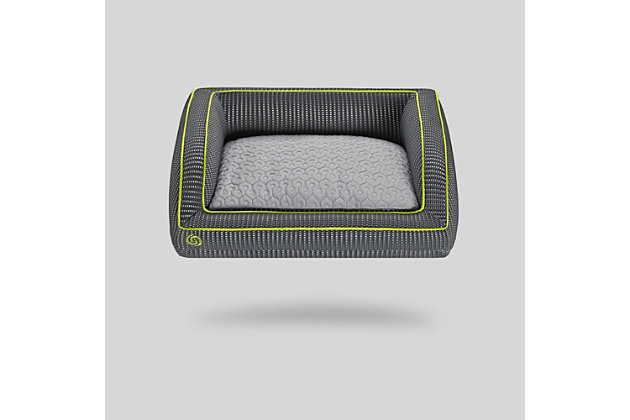 Bedgear Performance® Pet Bed - Large, Gray/Green, large