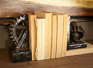 Home Accents Gear Shaped Bookend (Set of 2), , rollover