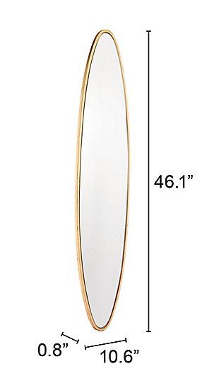 Gold Finished Oval Shaped Large Mirror, , large