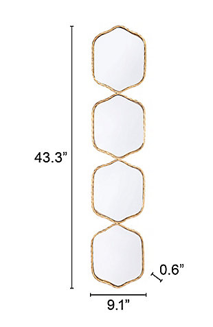 Modern Gold Finished Mirror, , large