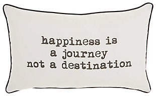 Decorative Happiness Journey Trendy Pillow, , rollover