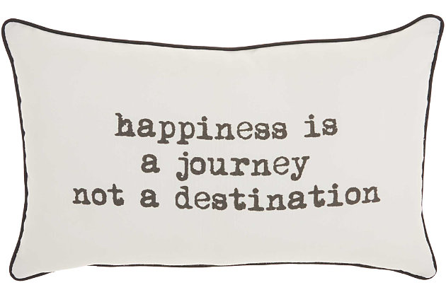 Decorative Happiness Journey Trendy Pillow, , large