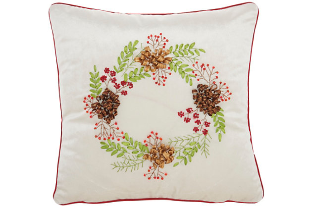 Decorative Home For The Holiday Pillow, , large