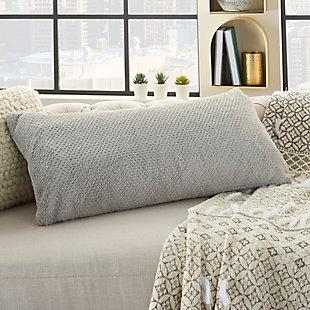 Modern Dot Foil Print Fur Pillow, , rollover