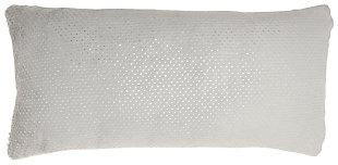 Modern Dot Foil Print Fur Pillow, , large