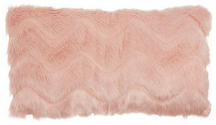 Modern Chevron Faux Fur Pillow, , large