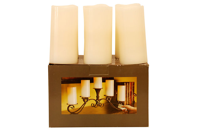 Home Accents Flameless Candle (Set of 6), Cream, large