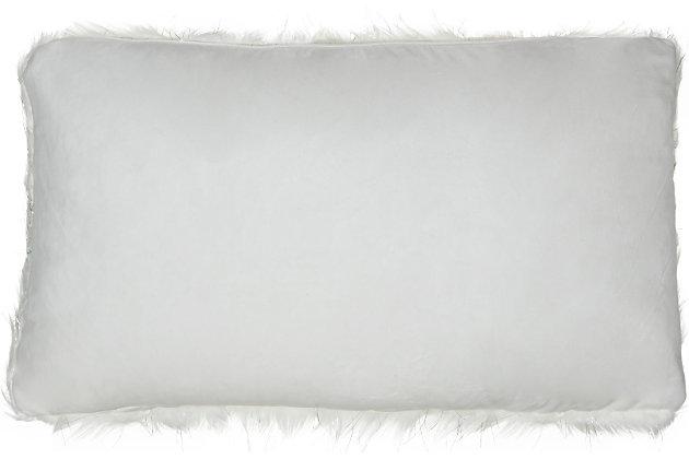 Modern Lurex Remen Faux Fur Pillow, , large