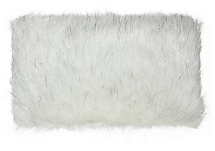 Modern Lurex Remen Faux Fur Pillow, , large