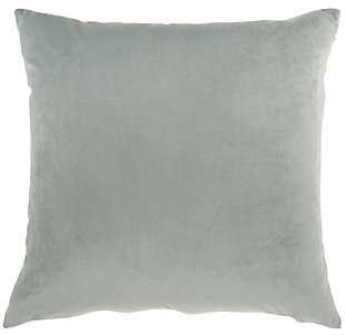 Modern Metallic Marble Pillow, Ash Gray, large