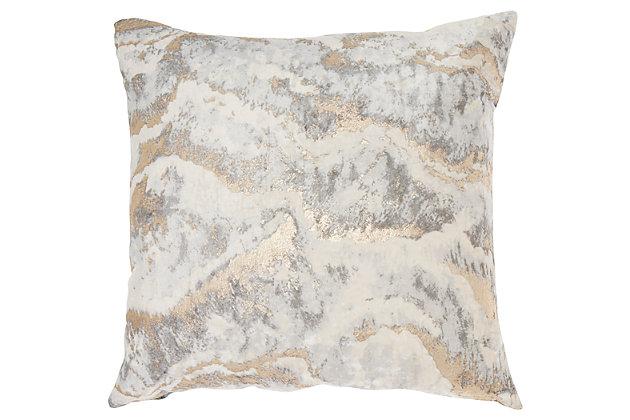 Modern Metallic Marble Pillow Ashley, Ashley Furniture Pillows