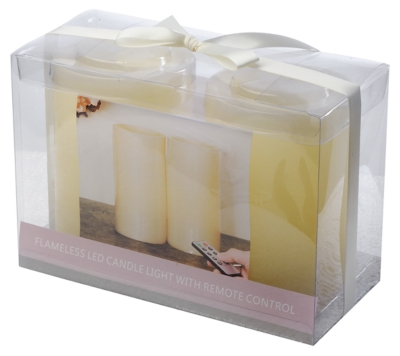 Ashley Home Accents Flameless Candle (Set of 2), Cream