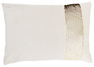 Modern Sequin Stripe Pillow, , large