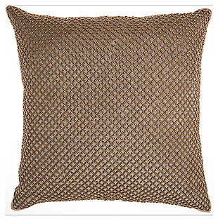 Modern Beaded Lattice Pillow, , large