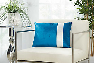 Modern Snake Skin Stripe Pillow, , large