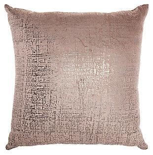 Modern Distressed Metallic Pillow, , large