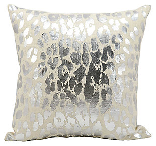 Modern Metallic Leopard Pillow, , rollover