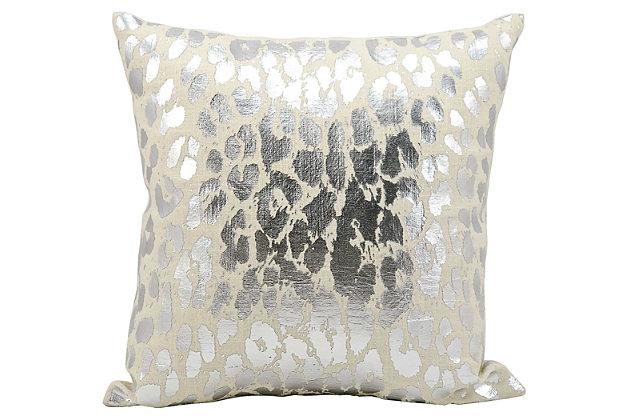 Modern Metallic Leopard Pillow, , large