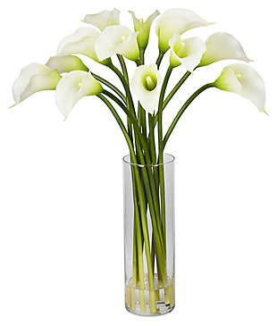 Home Accent Mini Calla Lily Silk Flower Arrangement, , large
