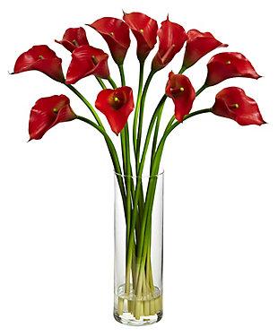 Home accent Mini Calla Lily Silk Flower Arrangement, , large