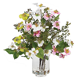 Home Accent Dogwood Silk Flower Arrangement, , large
