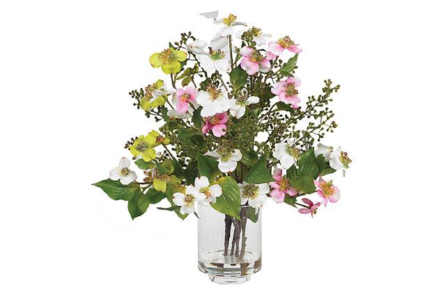 Home Accent Dogwood Silk Flower Arrangement, , large