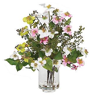Home Accent Dogwood Silk Flower Arrangement, , rollover