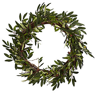 "Home Accent 20"" Olive Wreath, , large"