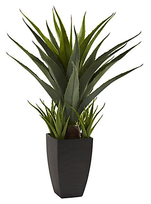 Home Accent Agave with Black Planter, , large