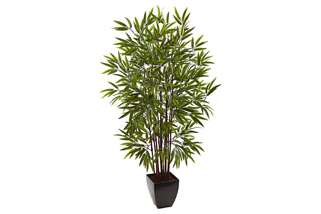 Home Accent 5' Bamboo Silk Tree with Planter, , large