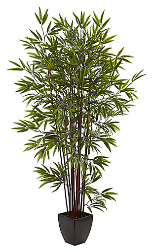 Home Accent 6' Bamboo Silk Tree with Planter, , large