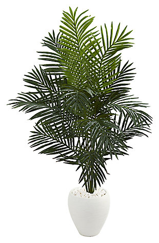 Home Accent 5.5' Paradise Artificial Palm Tree in White Planter, , rollover