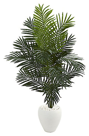 Home Accent 5.5' Paradise Artificial Palm Tree in White Planter, , large