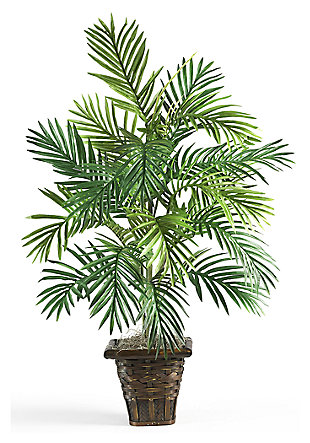 Home Accent Areca Palm with Wicker Basket Silk Plant, , large