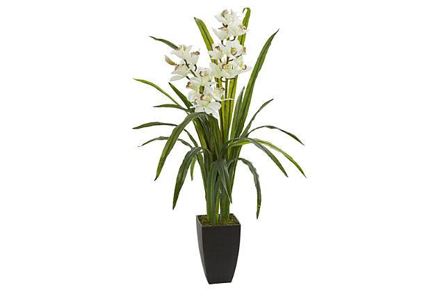 """Home Accent 39"""" Cymbidium Orchid Artificial Plant, , large"""
