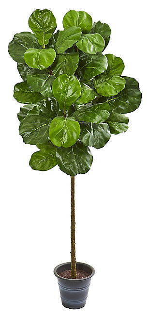 Home Accent 5' Fiddle Leaf Artificial Tree With Decorative Planter, , rollover