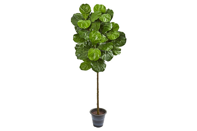 Home Accent 5' Fiddle Leaf Artificial Tree With Decorative Planter, , large