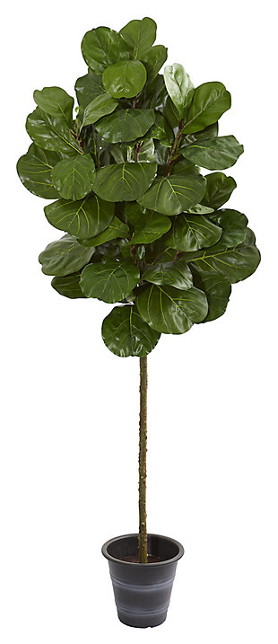 Home Accent 6.5' Fiddle Leaf Artificial Tree With Decorative Planter, , large