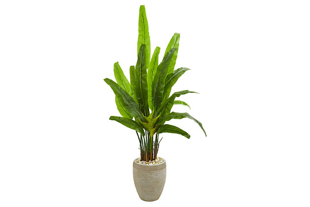 """Home Accents 64"""" Travelers Palm Artificial Tree in Sand Colored Planter, , large"""